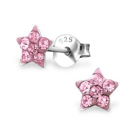 Sterretjes kristal licht roze
