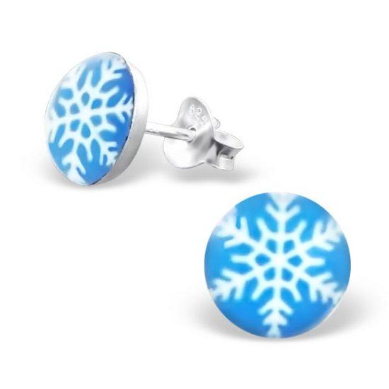 Sneeuwvlok zilveren kinderoorbellen