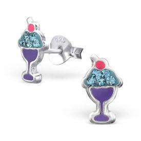 IJscoupe zilveren kinderoorbellen