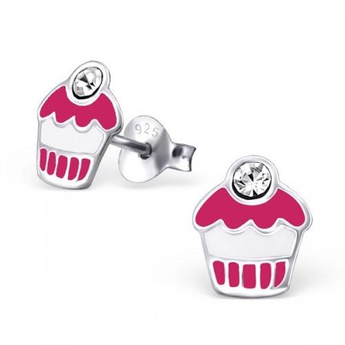 Cupcakes epoxy roze met kristal