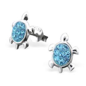 Schildpad kristal blauw