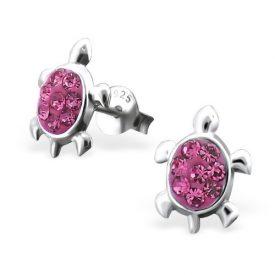 Schildpad kristal roze