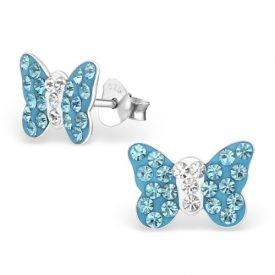 Vlinders kristal blauw