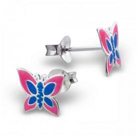 Vlinders epoxy roze blauw