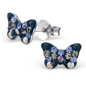 Vlinders kristal navy