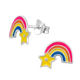 Regenboog met ster