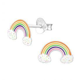 Regenboogjes multi met glitterwolkjes