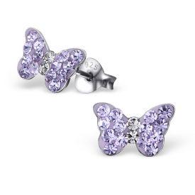 Vlinders kristal licht paars