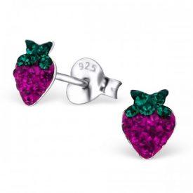 Kleine aardbeitjes kristal roze