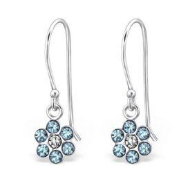 Hangers bloem kristal blauw