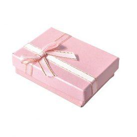 Kartonnen sieradendoosje roze