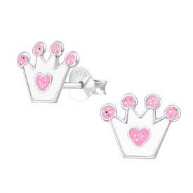 kroontjes wit/roze sparkle