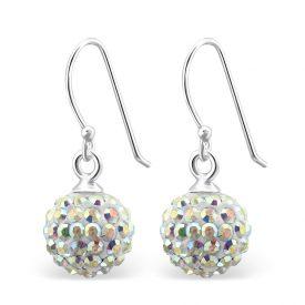Hangers kristallen dames oorbellen