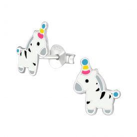 Zebra oorbellen