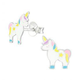 Unicorn oorbellen pastel