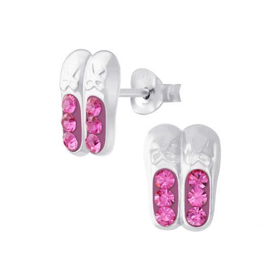 Ballerina schoentjes oorbellen roze
