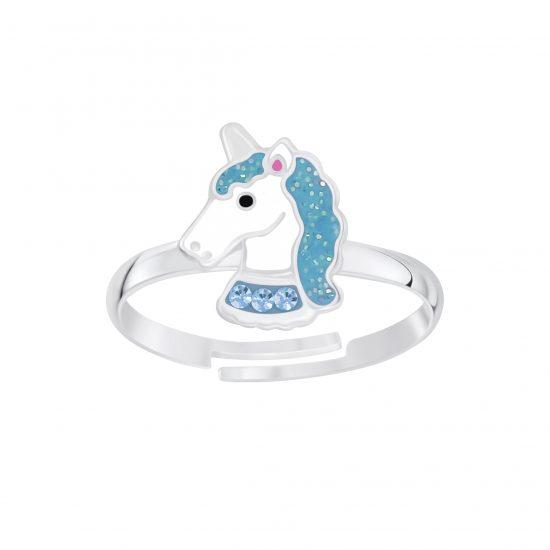 Unicorn ring blauw