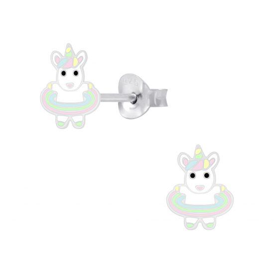 zilveren kinderoorbellen unicorn hulahoops